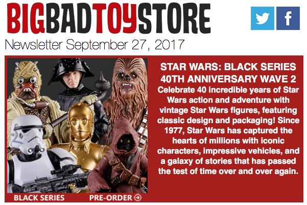 BigBadToyStore: Star Wars Black, DC MAFEX, Transformers, DBZ, Boruto, TMNT, Predator & More