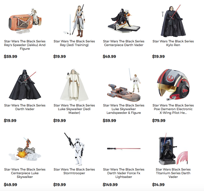 HasbroToyShop eBay Store Is A Good Place To Find Some Star Wars The Last Jedi Products