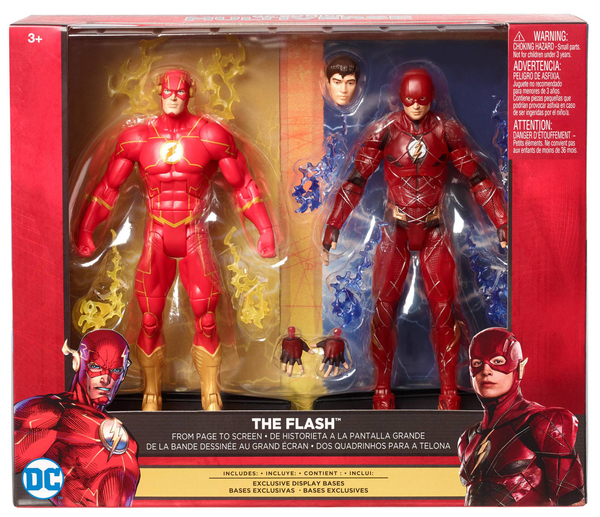 Mattel DC Comics Multiverse 6″ Justice League The Flash From Page To Screen Figure 2 Pack