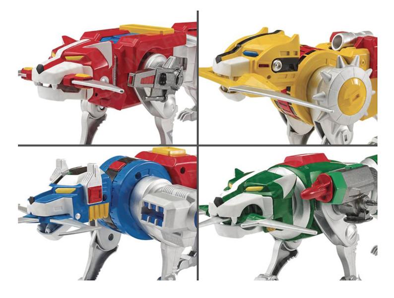 Playmates Toys Voltron Classic Lions Figures Update