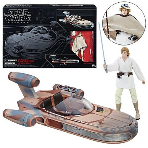 Star Wars The Black Series Luke Skywalker's Landspeeder Vehicle With Luke Skywalker
