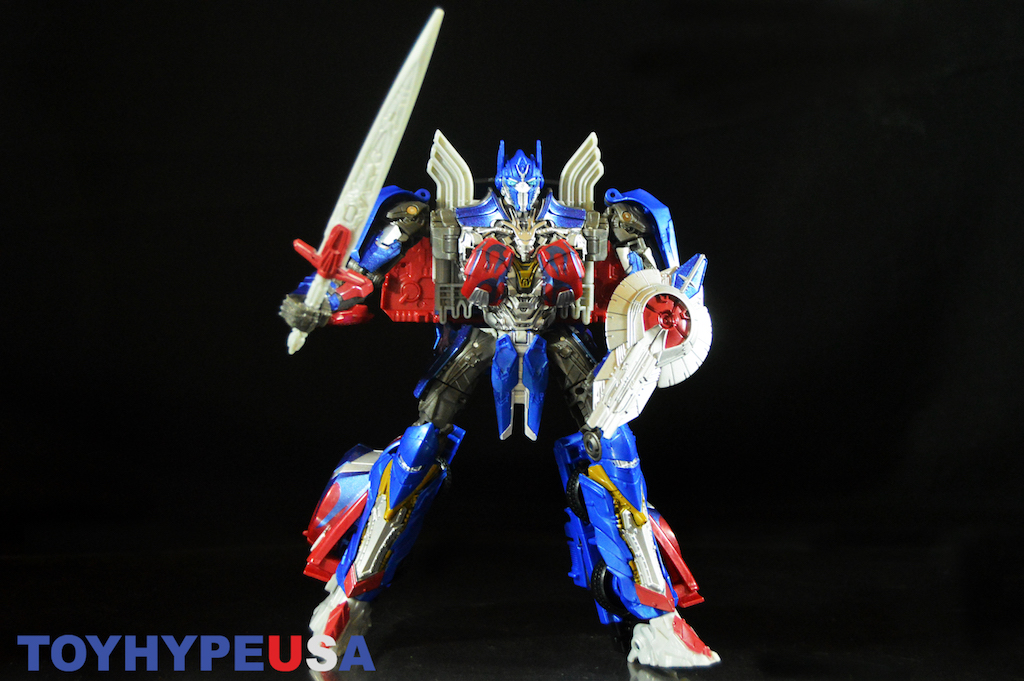 Hasbro SDCC 2017 Exclusive Transformers: The Last Knight Optimus Prime Burning Rubber Ed. Figure Review