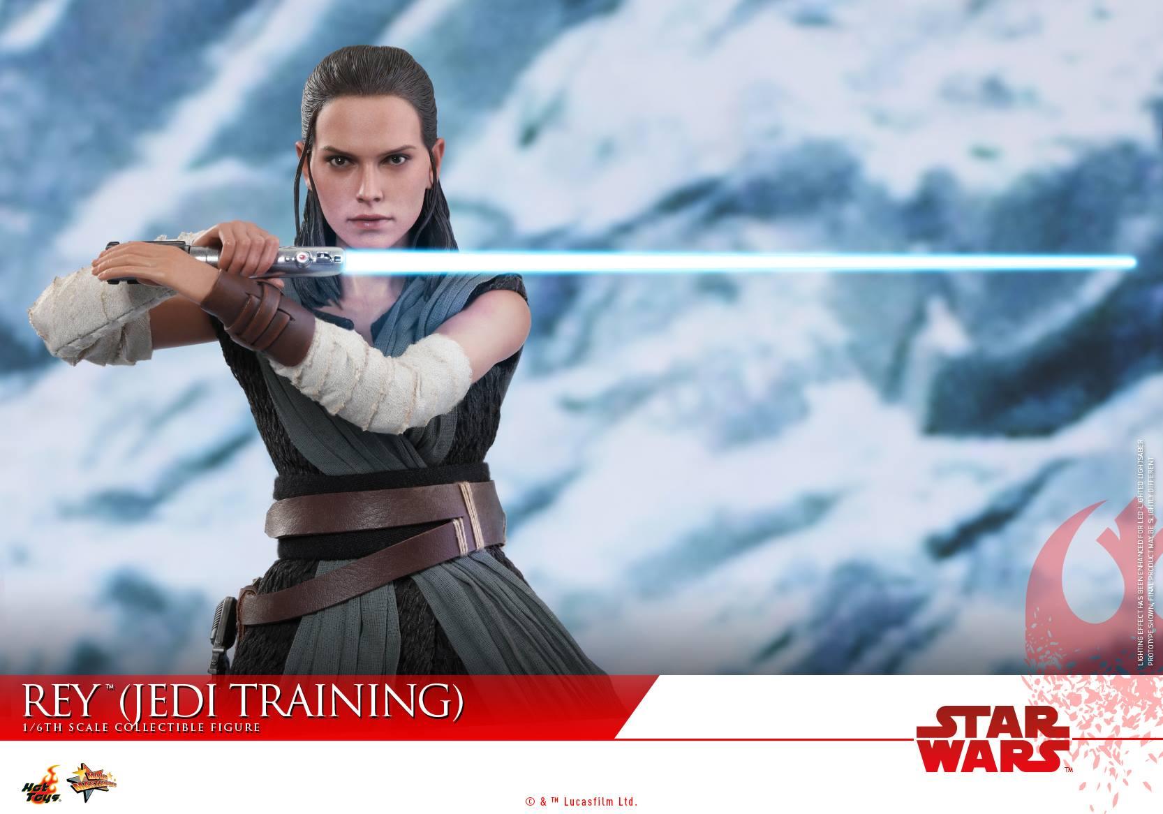 1//6th Scale Brown Staff Hot Toys MMS446 Star Wars Last Jedi Rey Jedi Training