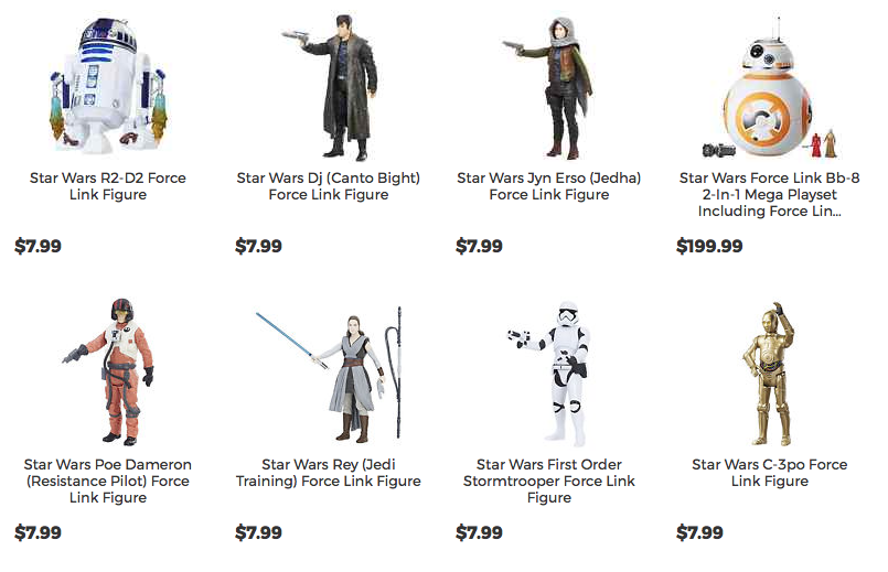 Star Wars Force Link Canto Bight, R2-D2 & Jyn Erso Figures On HTS eBay Storefront