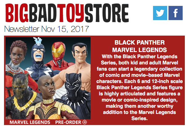 BigBadToyStore: Black Panther, Transformers, Star Trek, Hot Toys, Nier: Automata, Batmobile, Mortal Kombat & More
