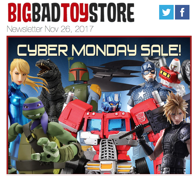 BigBadToyStore Launches Cyber Monday Sale