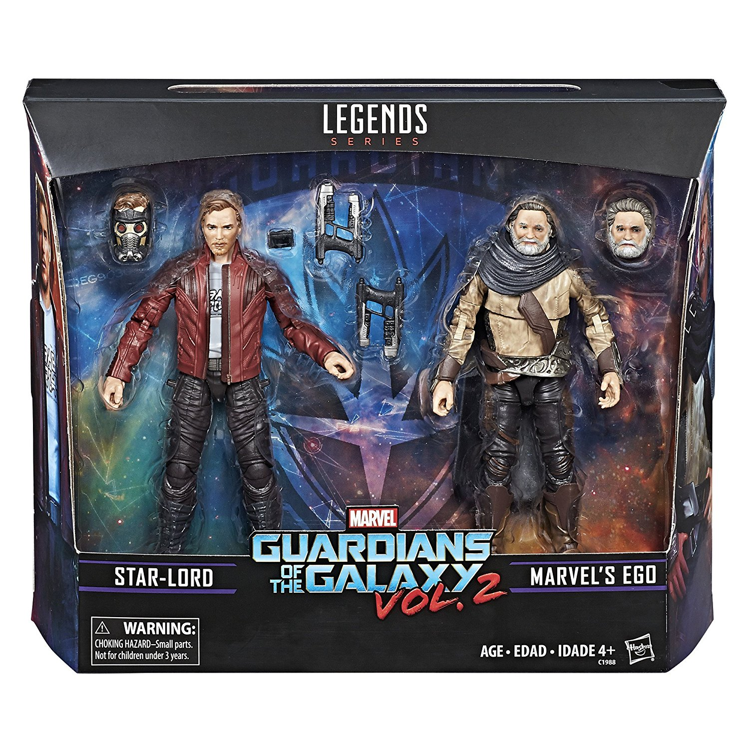 Marvel Legends Guardians Of The Galaxy Vol. 2 Marvel's Ego & Star-Lord 2-Pack $16.50 On Amazon