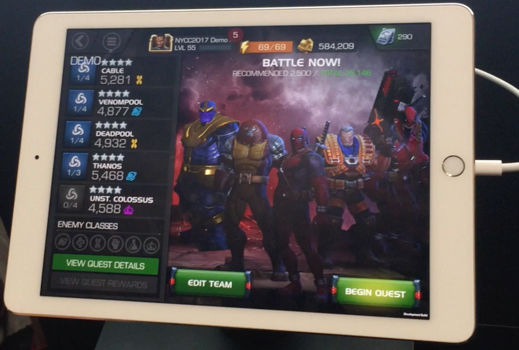 NYCC 2017 – Marvel Contest Of Champions Video Game Interview With Art Director