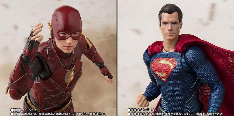 S.H. Figuarts Justice League Movie Superman & The Flash