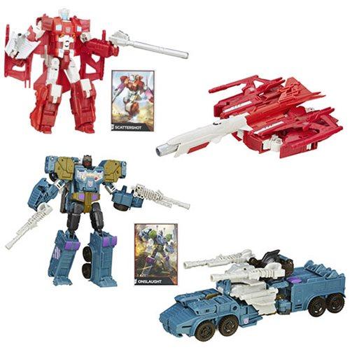 Transformers Generations Combiner Wars Voyager Scattershot & Onslaught Set Now $19.99