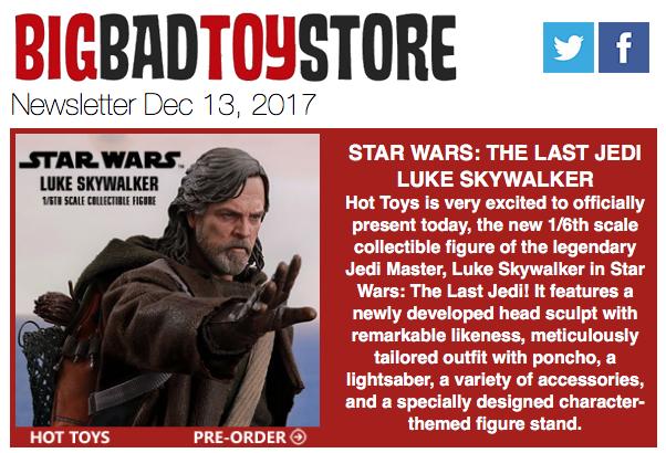 BigBadToyStore: Last Jedi Luke, Justice League, DC Multiverse, The Flash, Vitruvian HACKS, Marvel, Gundam & More
