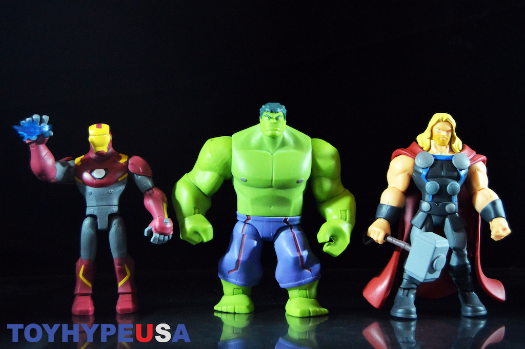 Disney Exclusive Marvel Toy Box – Incredible Hulk, Iron Man & Thor Figures Review