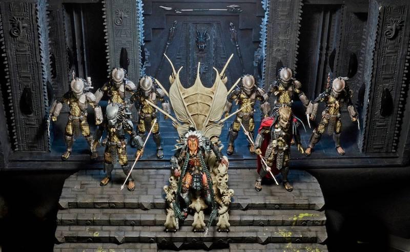 NECA Toys Shipping This Week – Predator – Bone Throne Diorama & 1995 Burning Godzilla