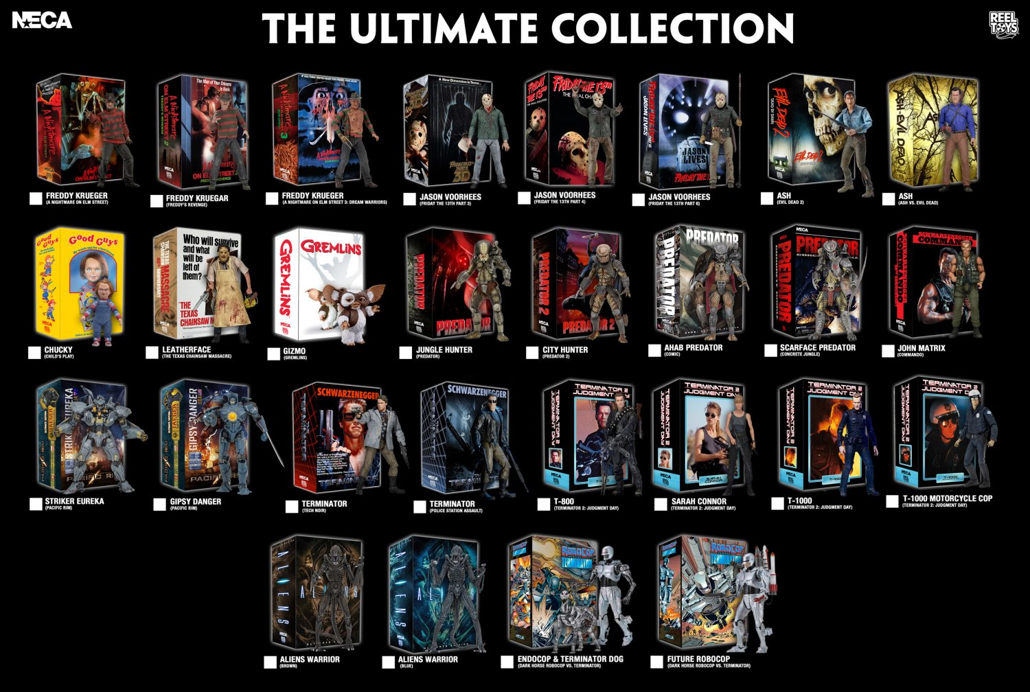 NECA Toys 5 Days Of Downloads – New Visual Guides For 2017