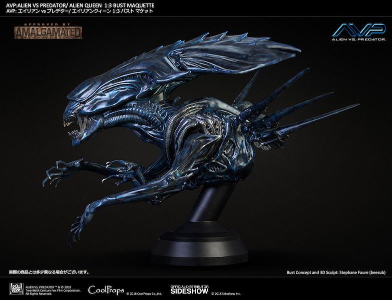 CoolProps Alien Vs Predator Alien Queen Bust Pre-Orders