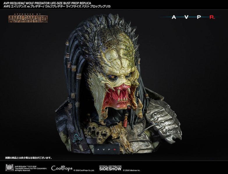 CoolProps Alien Vs Predator – Wolf Predator Bust Pre-Orders