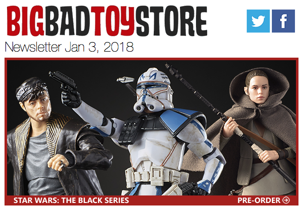 BigBadToyStore – Star Wars Black, TF PotP, Iron Man, Batman, Black Panther, Resident Evil, Bandai & More