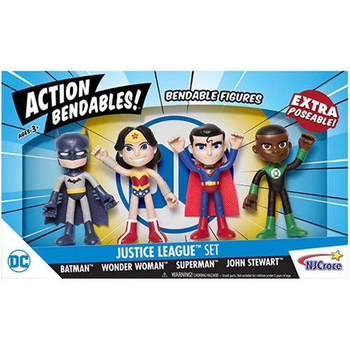 NJ Croce DC Comics Justice League 4″ Action Bendables