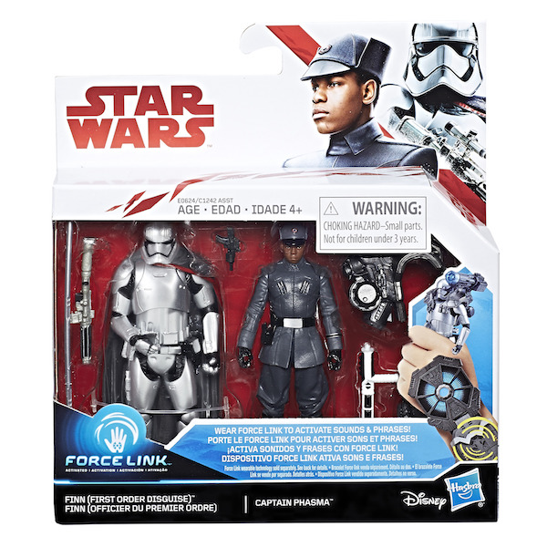 Entertainment Earth – Star Wars: The Last Jedi Finn (First Order Disguise) Vs. Captain Phasma 3 3/4″ Figures Available Now