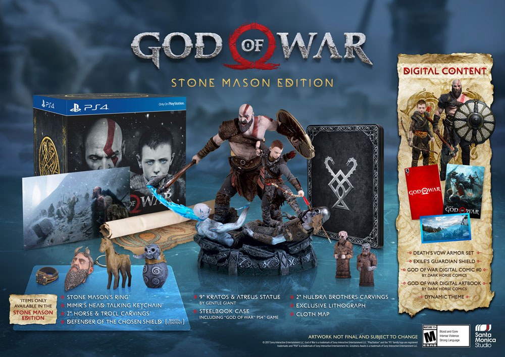 GameStop Exclusive God Of War 4 – Stone Mason Edition Bundle Pack Pre-Orders