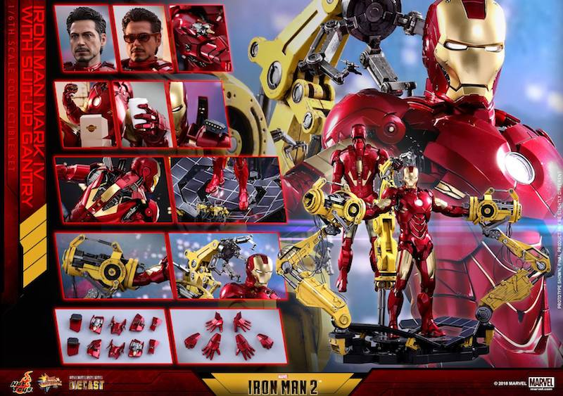 Hot Toys Iron Man 2 – Mark IV With Suit-Up Gantry Sixth Scale Figure Pre-Orders