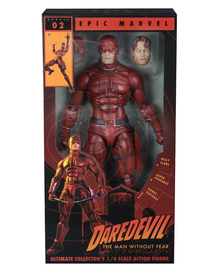 NECA Toys Marvel – 1/4″ Scale Daredevil Figure In-Packaging