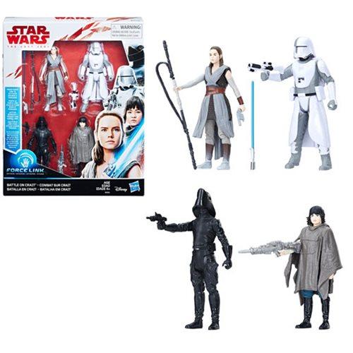 Star Wars: The Last Jedi Battle On Crait 3 3/4″ Action Figure Set