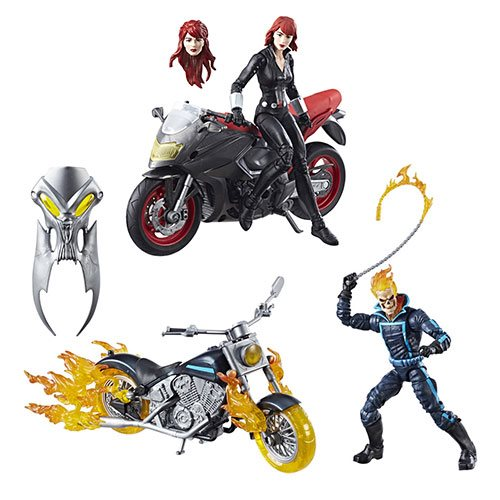 Hasbro Avengers Marvel Legends 6″ Black Widow With Motorcycle Now $29.99 On Entertainment Earth