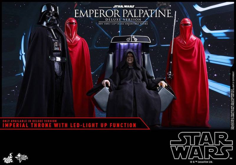 Hot Toys Star Wars Emperor Palpatine & Royal Guard Sixth Scale Figures
