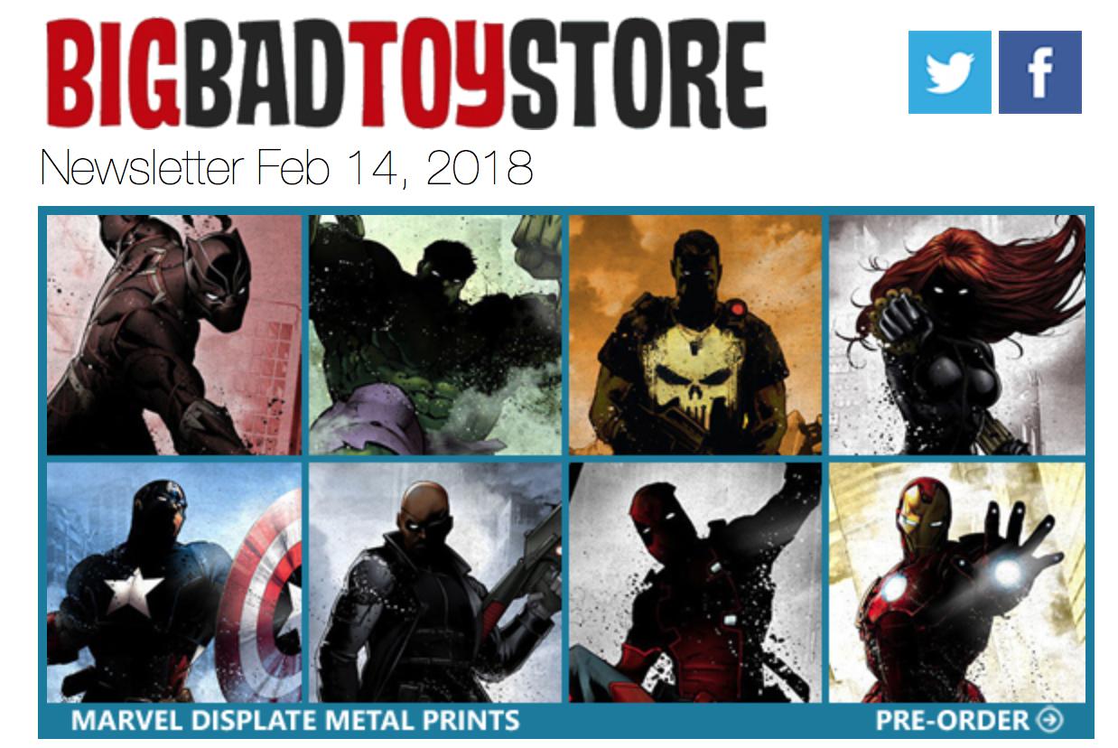 BigBadToyStore – Marvel, Star Wars, DC Metal Prints, Dragon Ball, One Piece, PAK Cyclops, The Walking Dead, Mythic Legions & More