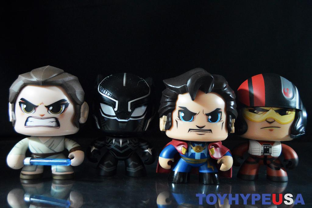 Hasbro Mighty Muggs – Black Panther, Doctor Strange, Rey & Poe Dameron Figures Review