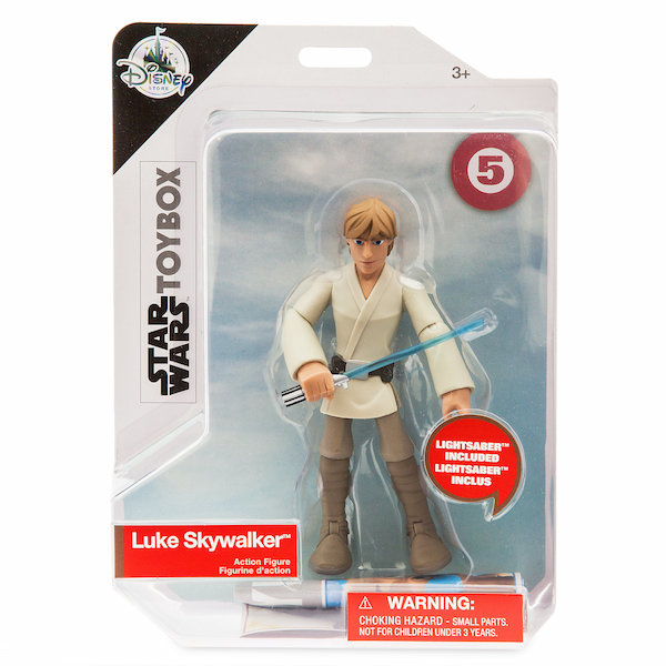 Disney Store Exclusive Star Wars Toy Box Boba Fett & Luke Skywalker Figures Available