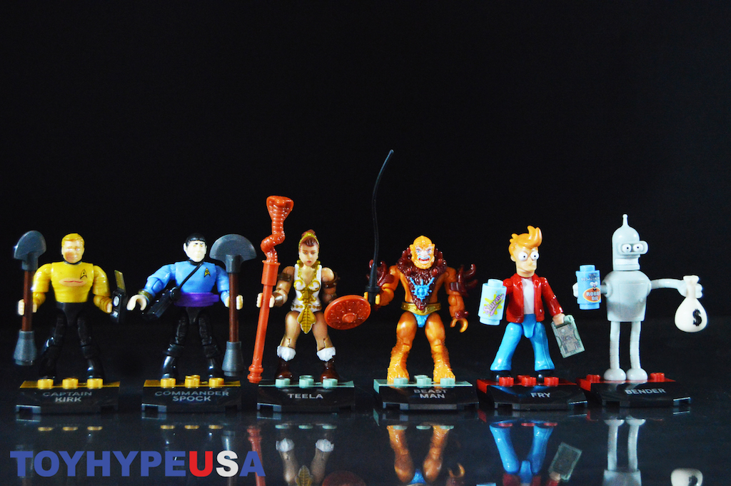 Mega Construx Heroes Series 2 – Masters Of The Universe, Star Trek TOS & Futurama Figures Review