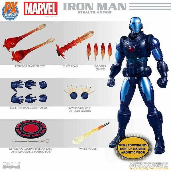 Mezco Toyz One:12 Collective Previews Exclusive Iron Man Stealth Armor Figure