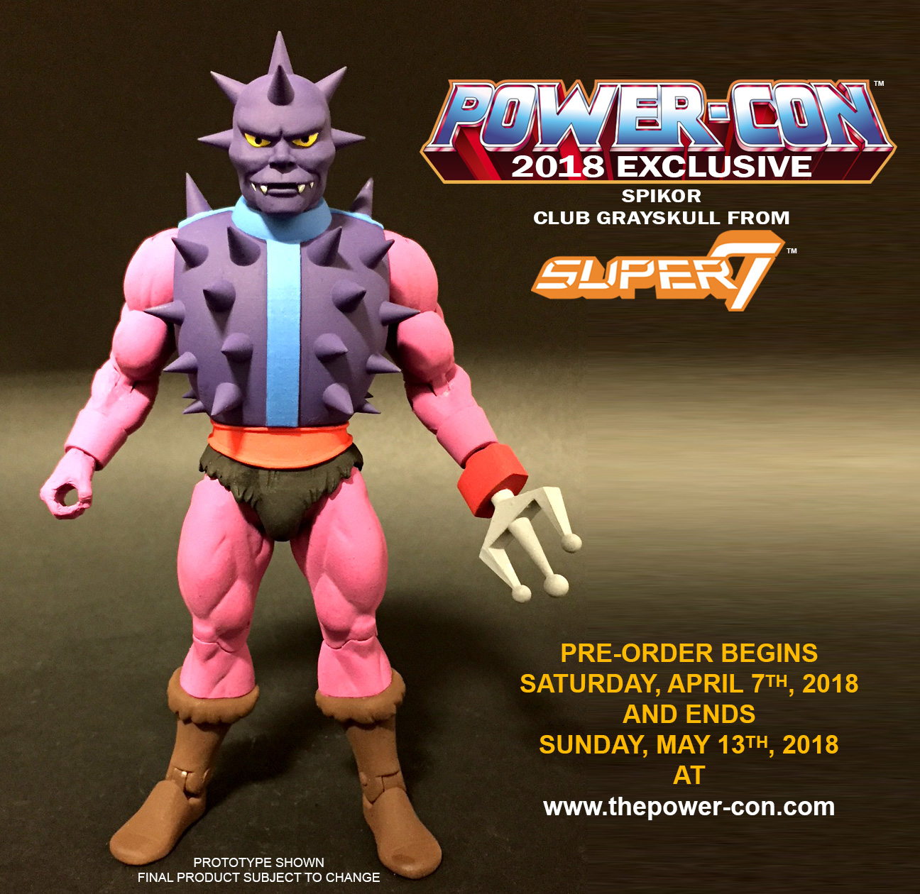Power-Con 2018 Exclusive Masters Of The Universe Club Grayskull Spikor Figure