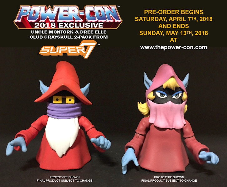 Power-Con 2018 Exclusive Masters Of The Universe Club Grayskull Uncle Montork & Dree Elle Figures