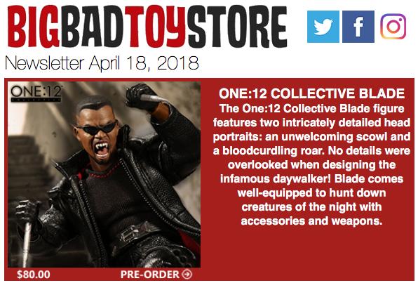 BigBadToyStore – One:12 Blade, Marvel, DC, DBZ, Star Wars, Friday The 13th, Jurassic World & More