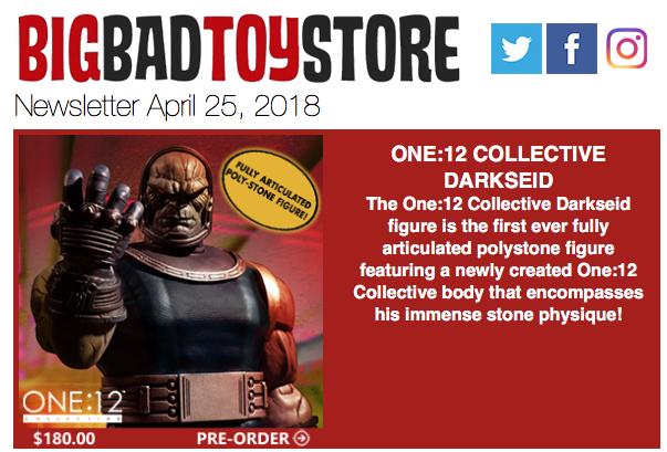 BigBadToyStore – Darkseid, Infinity War, TF Studio Series, MAFEX Spider-Man, Marvel Legends, Overwatch & More