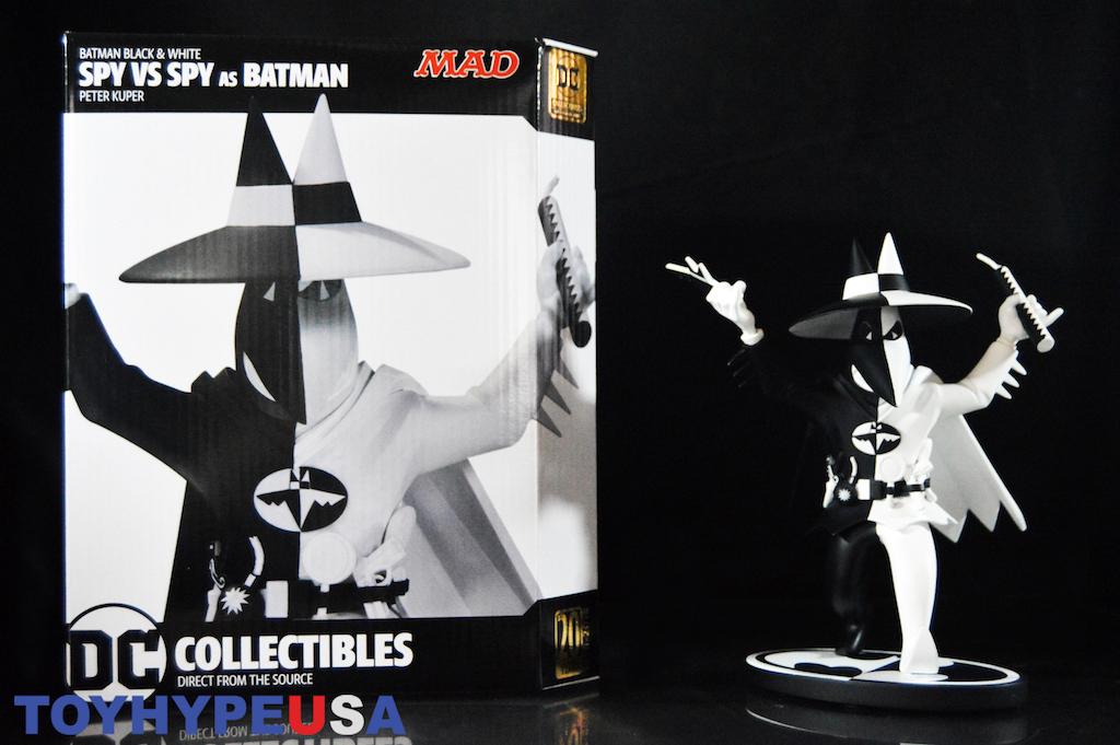 DC Collectibles Batman Black And White Spy Vs. Spy As Batman By Peter Kuper Statue Review