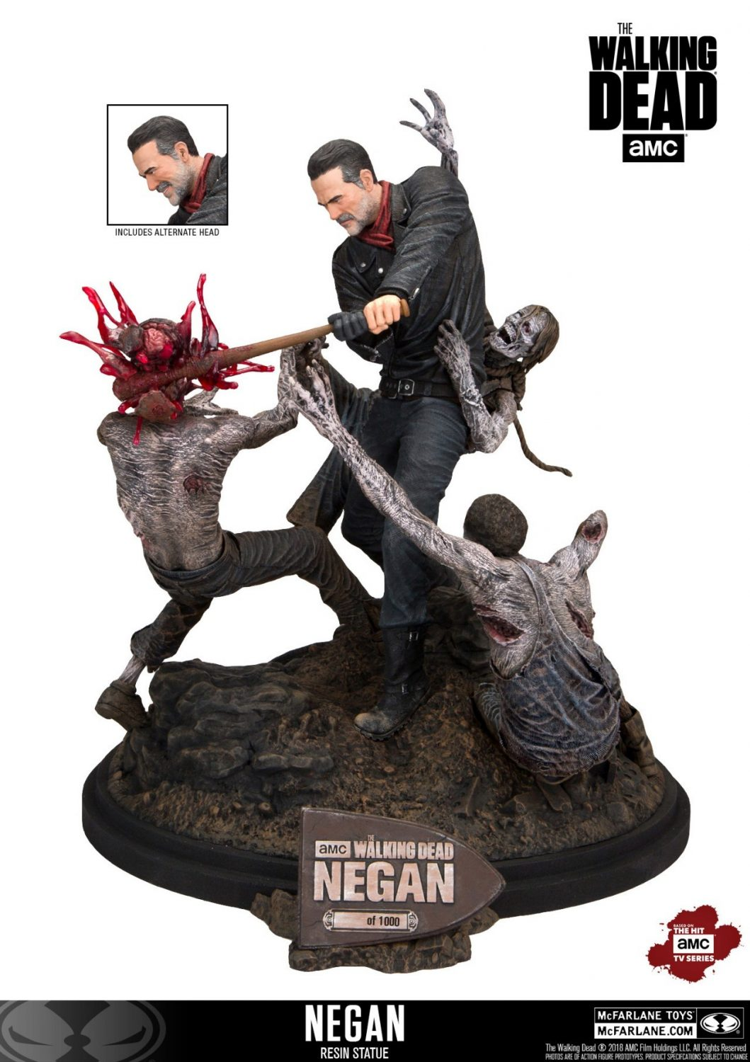 McFarlane Toys The Walking Dead Negan Resin Statue Available Now
