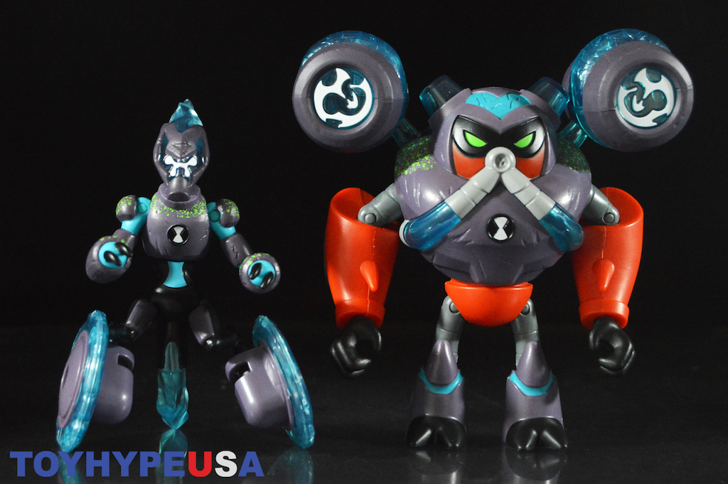 Playmates Toys Ben 10 Series 4 – Omni-Enhanced Overflow & XLR8 Figures Review