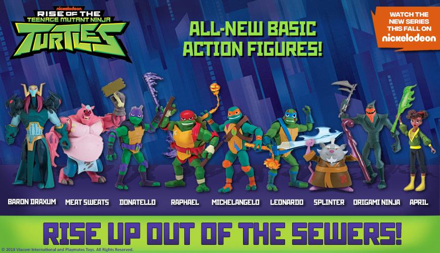 Playmates Toys All-New Teenage Mutant Ninja Turtles Toys Rise To Retail Stores