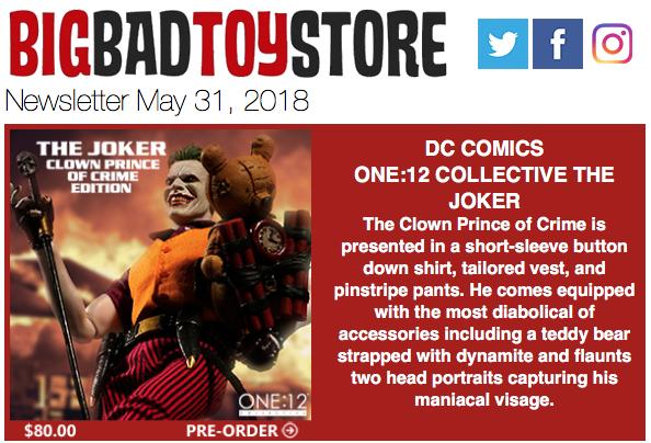 BigBadToyStore – One:12 Joker, Gremlins, Predator, Overwatch, Transformers, Persona, Marvel, DC & More
