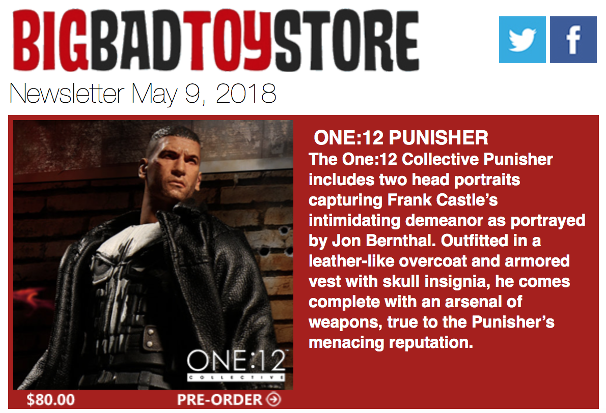 BigBadToyStore – One:12 Punisher, Voltron, TF, Star Wars, Four Horsemen, Comicave & More