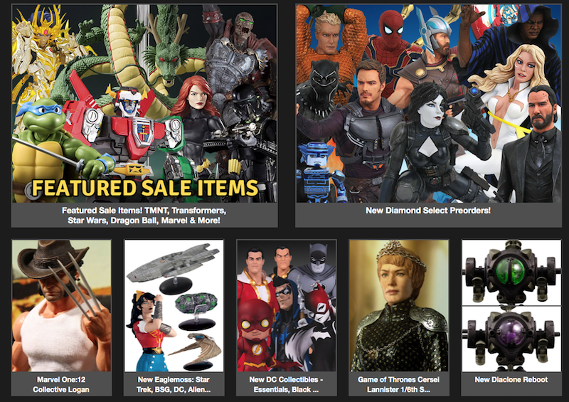BigBadToyStore – Featured Sale, Logan, Diamond Select, DC, Game Of Thrones, Deadpool, Godzilla, Avengers & More