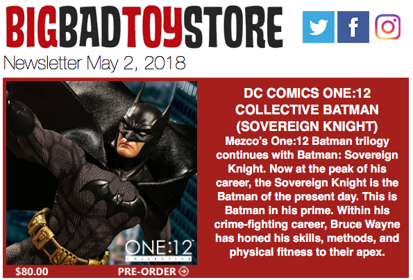 BigBadToyStore – One:12 Batman, Mike Tyson, Deadpool, Marvel Legends, Gundam, Mega Man, MOTU & More