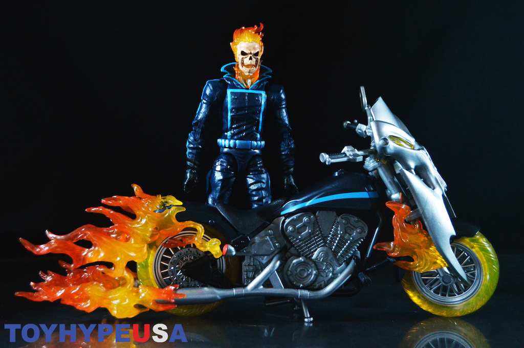 Hasbro Marvel Legends 6″ Scale Ghost Rider With Flame Cycle Figure Review