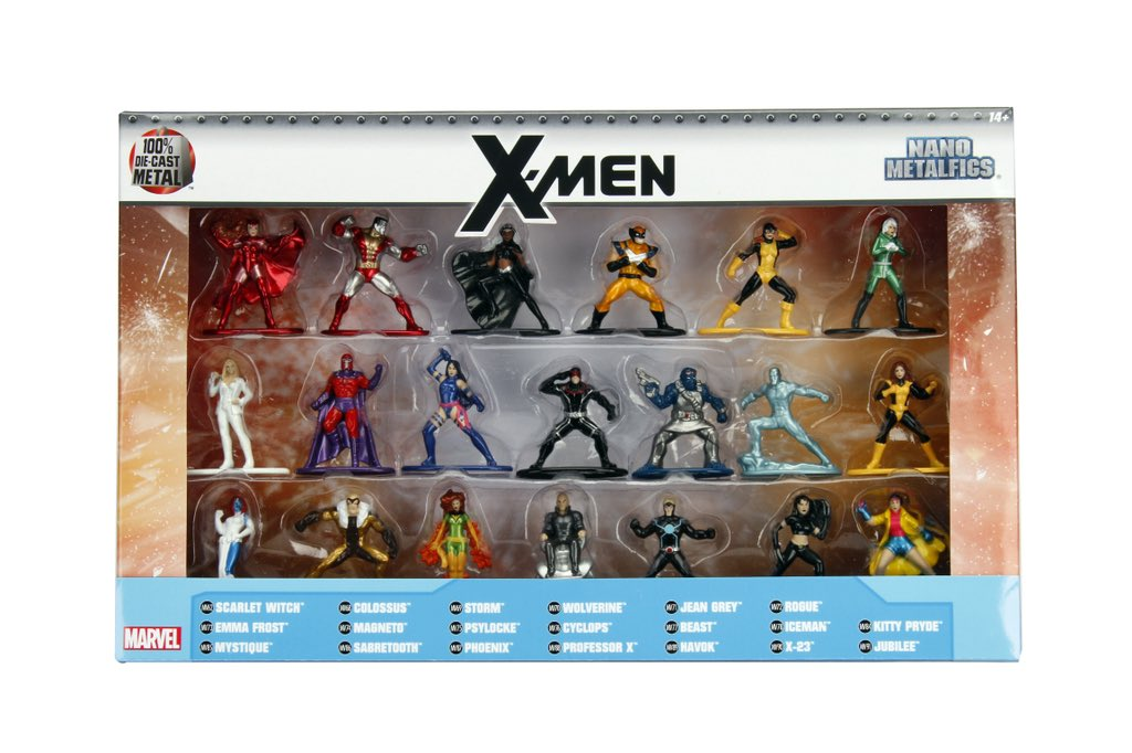 Jada Toys Reveals X-Men Nano Metalfigs 20 Figure Box Set