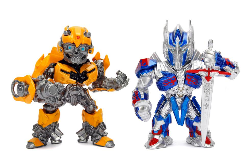 Jada Toys Transformers: The Last Knight Bumblebee & Optimus Prime Die-Cast Figures Available Now