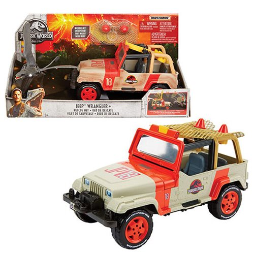 Jurassic World: Fallen Kingdom Matchbox Jeep Wrangler With Net In-Stock On Wal-Mart For $15